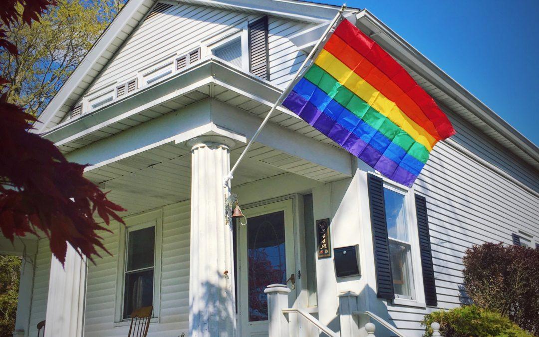 The Rainbow Flag on the Corner of Main Street